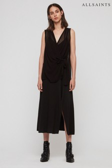 AllSaints Black Kacie Dress