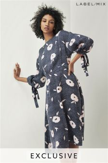 Mix/Kitri Studio Floral Spot Jacquard Dress