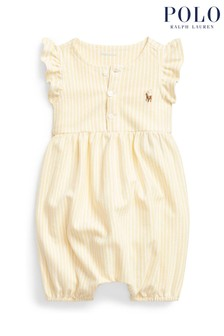 Ralph Lauren Yellow Stripe Romper