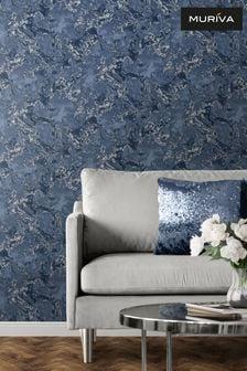 Muriva Silver Mid Elixir Marble Wallpaper