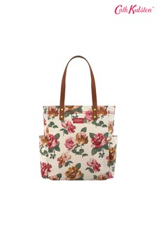 Cath Kidston® Cream Chiswick Rose Large Canvas Tote