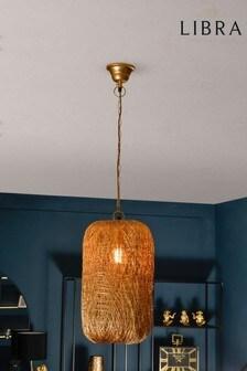 Libra Tova Gold Woven Wire Tall Pendant