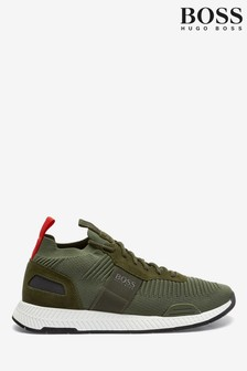 BOSS Green Titanium Runn Knit Sock Trainers