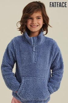 FatFace Blue Love Our Planet Half Neck Sweater