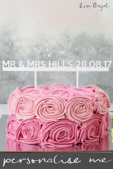 Buy wedding gifts decorations from the next uk online shop personalised mr and mrs cake topper by lisa angel junglespirit Image collections