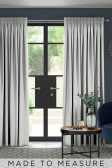 Pero Slate Grey Made To Measure Curtains