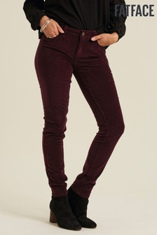 FatFace Purple Five Pocket Cord Jeggings