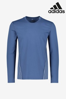 adidas Blue Aero Cold RDY Long Sleeved T-Shirt