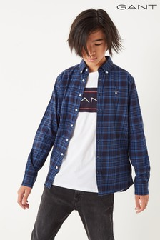 GANT Boys' Twill Check B.D Shirt