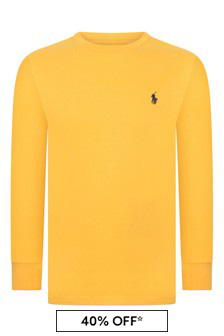 Boys Yellow Long Sleeve Jersey T-Shirt