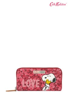 Cath Kidston Snoopy Love Paper Ditsy Continental Placement Zip Wallet