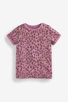 Organic Cotton Animal Print Basic T-Shirt (3-16yrs)