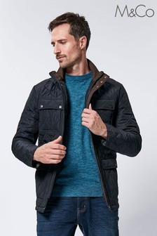 M&Co Men Blue Quilted Jacket