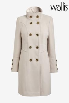 Wallis Stone Faux Wool Double Breasted Coat