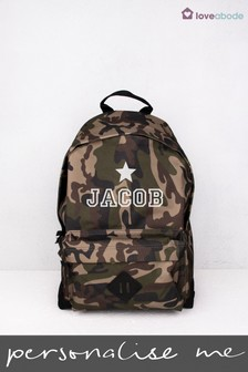 33b8c01c22 Personalised Camouflage Backpack by Loveabode