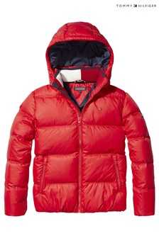 Tommy Hilfiger Red Basic Down Jacket