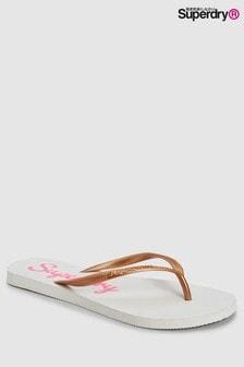 Superdry White Flip Flop