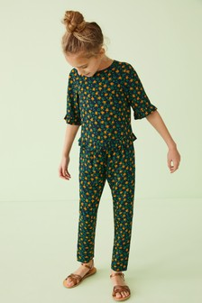 Sunflower Print Co-Ord Set (3-16 лет)