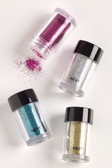 Set of 4 Brights Glitter Pots