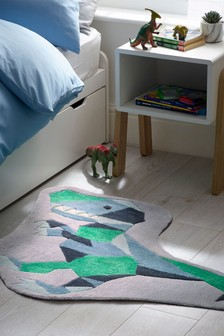 Geometric Dinosaur Tufted Rug