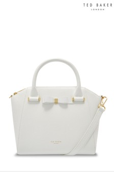 Ted Baker White Bow Zip Tote Bag
