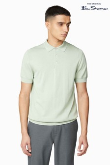 Ben Sherman® Green Signature Cotton Short Sleeve Poloshirt