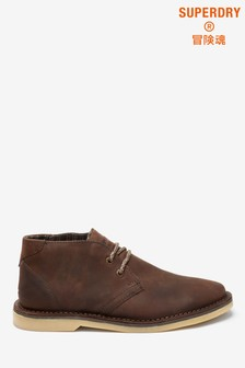 Superdry Brown Low Boots