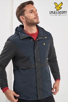 Lyle & Scott Black Colourblock Jacket