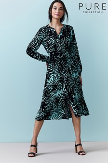 Pure Collection Printed Drawstring Dress