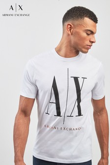 Armani Exchange White Vintage Logo T-Shirt
