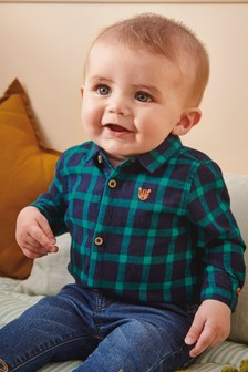 Gingham Shirtbody (0mths-2yrs)