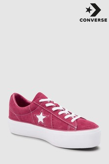 Converse bordeauxrode One Star Lift