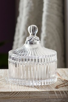 Pressed Glass Storage Jar