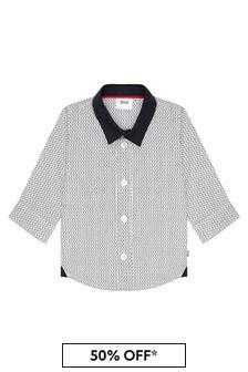 Boss Kidswear Navy Cotton Shirt