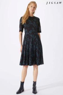 Jigsaw Blue Ophelia Fit And Flare Dress