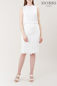 Hobbs White Skylar Skirt