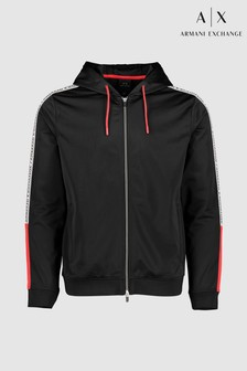 Armani Exchange Black Treco Zip Through Hoody