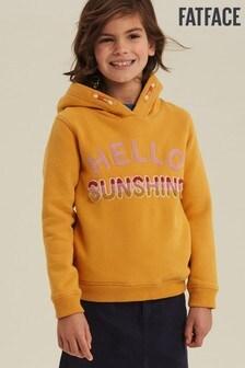 FatFace Yellow Hello Sunshine Popover Hoody