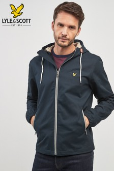 Lyle & Scott Navy Hooded Twill Jacket