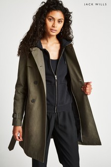 Jack Wills Khaki Ambrose Trench Coat