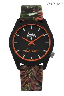 Hype. Green Floral Watch