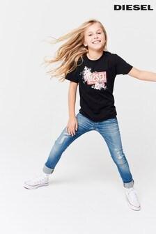 ג'ינס Skinzee משופשף בשטיפה רגילה של Diesel® Kids