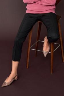 Cotton Blend Capri Trousers