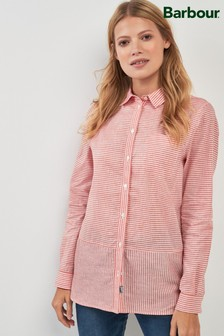 Barbour® Red Striped Utility Longline Shirt