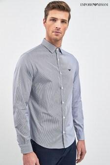 Emporio Armani Blue Stripe Shirt