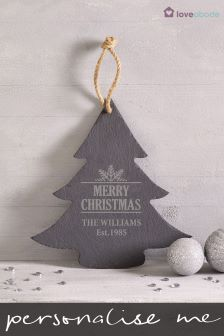 personalised slate family tree hanging by loveabode