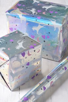 6M Unicorn Print Wrapping Paper