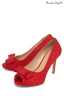 Phase Eight Carmine Clio Weave Peep Toe Shoe