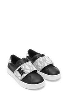 Girls Black/White Trainers