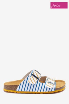 Joules Cream Penley Two Strap Sliders